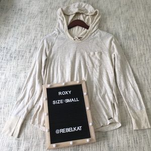 Roxy hoodie cream size small